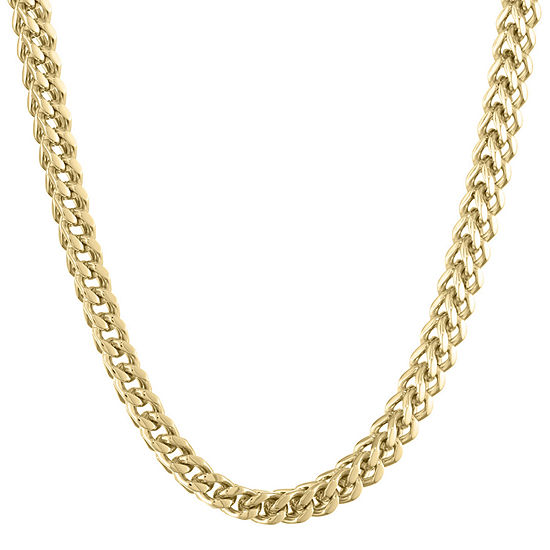 """Mens Stainless Steel & Gold-Tone IP 20"""" 6mm Foxtail Chain"""