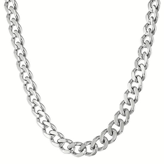 """Mens Stainless Steel 30"""" 12mm Chunky Curb Chain"""