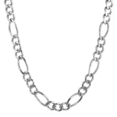 """Mens Stainless Steel 22"""" 11mm Figaro Chain"""