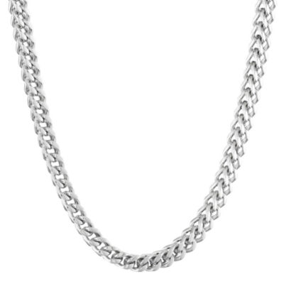 "Mens Stainless Steel 22"" 6mm Foxtail Chain"