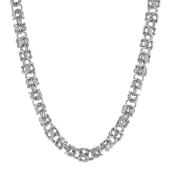 """Mens Stainless Steel 18"""" 7mm Byzantine Chain"""