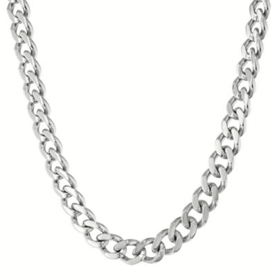 "Mens Stainless Steel 20"" 12mm Chunky Curb Chain"