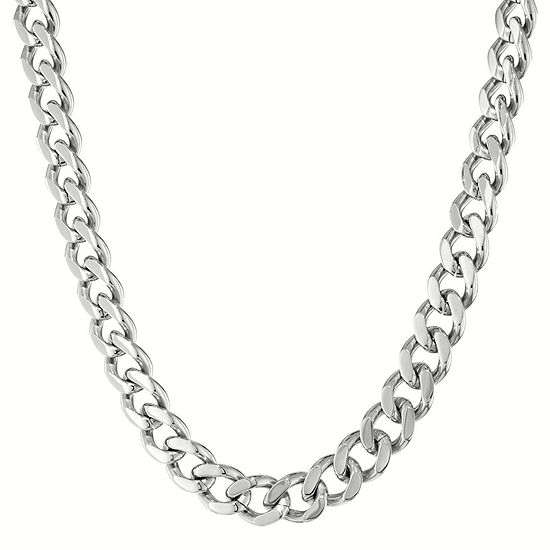 """Mens Stainless Steel 20"""" 12mm Chunky Curb Chain"""