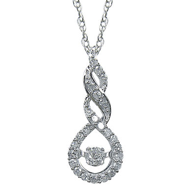 Love in Motion™ 1/4 CT. T.W. Diamond 10K White Gold Pendant Necklace