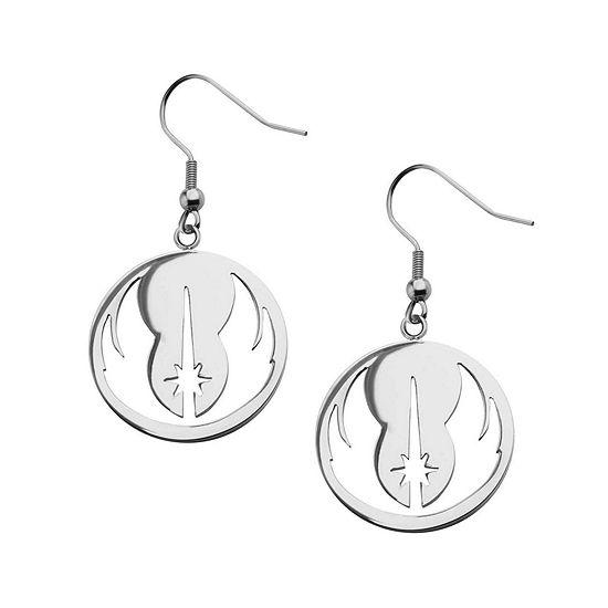 Star Wars® Stainless Steel Jedi Order Drop Earrings