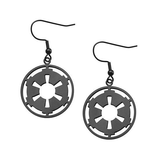 Star Wars® Stainless Steel Galactic Empire Symbol Earrings