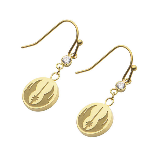 Star Wars® Stainless Steel Jedi Symbol Symbol Earrings
