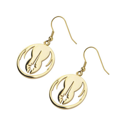 Star Wars® Gold Ion-Plated Stainless Steel Jedi Order Drop Earrings