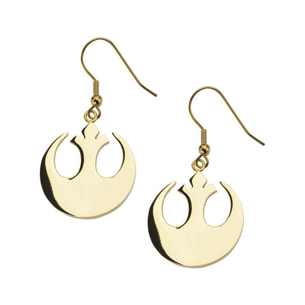 Star Wars® Gold Ion-Plated Stainless Steel Rebel Alliance Symbol Earrings