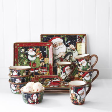 jcpenney.com | Certified International Santa's Workshop Dinnerware Collection