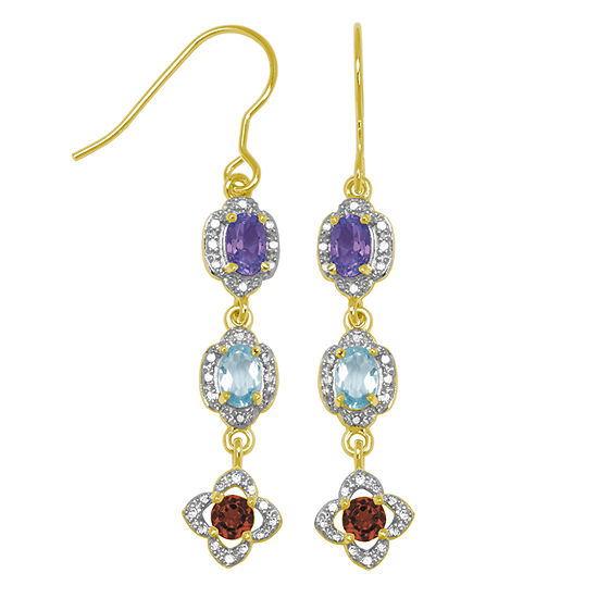 Sparkle Allure Multi Color Drop Earrings