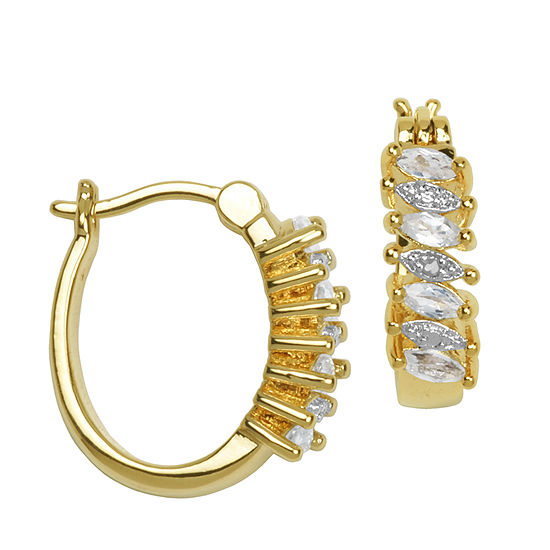 Sparkle Allure Genuine Topaz Hoop Earrings