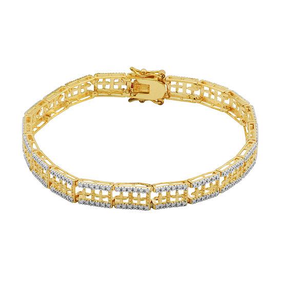 Sparkle Allure Circle Chain Bracelet