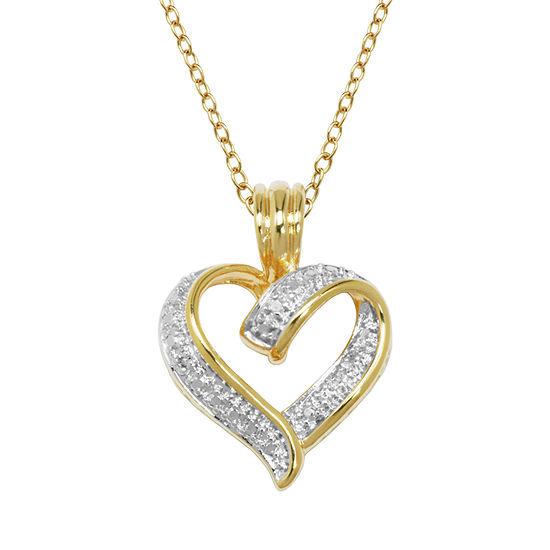 Sparkle Allure Heart Pendant Necklace