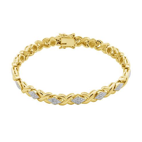 Sparkle Allure Womens White Bangle Bracelet