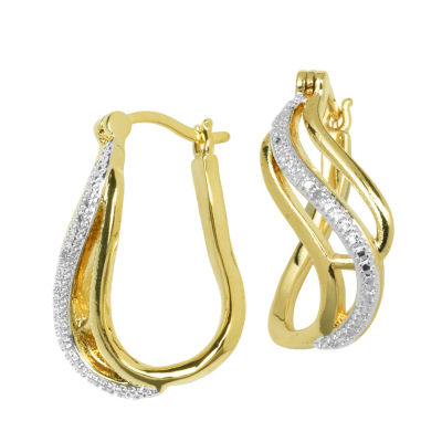 Sparkle Allure White Hoop Earrings