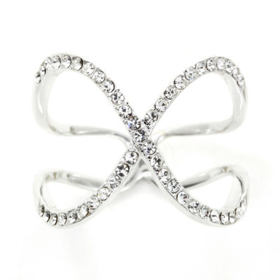 Sparkle Allure Womens White Cluster Ring