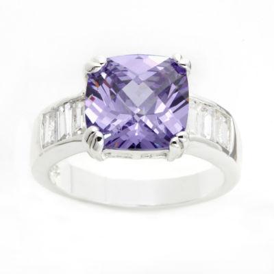 Sparkle Allure Purple Cluster Ring