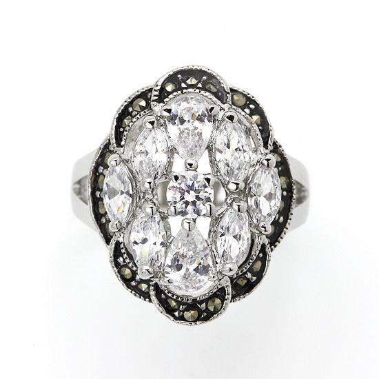 Sparkle Allure Cluster Cocktail Ring