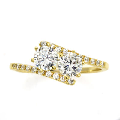 Sparkle Allure Yellow Cluster Cocktail Ring