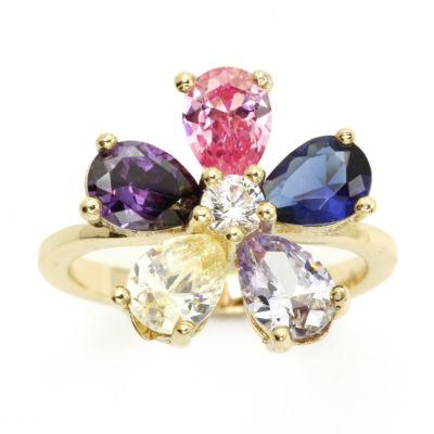 Sparkle Allure Multi Color Cluster Ring