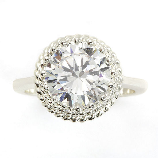 Sparkle Allure White Cluster Cocktail Ring