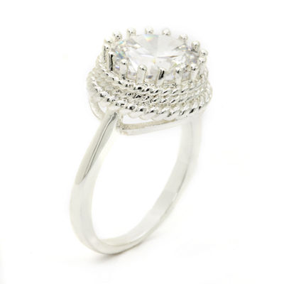 Sparkle Allure White Cluster Ring