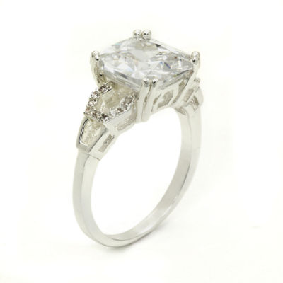 Sparkle Allure Womens White Halo Ring