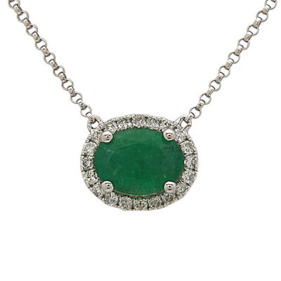 LIMITED QUANTITIES! 1/5 CT. T.W. Genuine Emerald 14K Gold Pendant Necklace