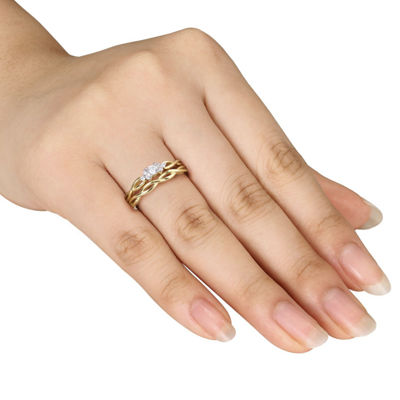 1/6 CT. T.W. White Diamond 10K Gold Bridal Set