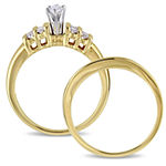 Womens 1/2 CT. T.W. Genuine White Diamond 14K Gold Bridal Set