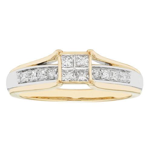 Womens 10K 1/3Ct Ring