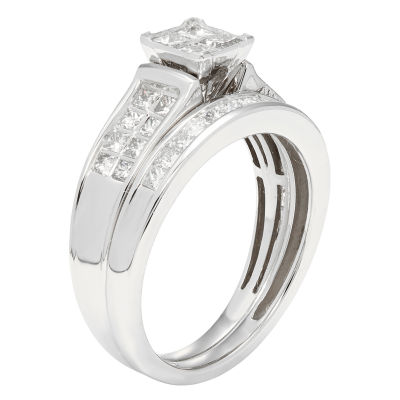 Certified Diamonds Womens 1 C.T.T.W 14K White Gold Bridal Set