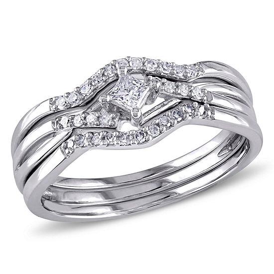 1/4 CT. T.W. White Diamond 10K Gold Bridal Set