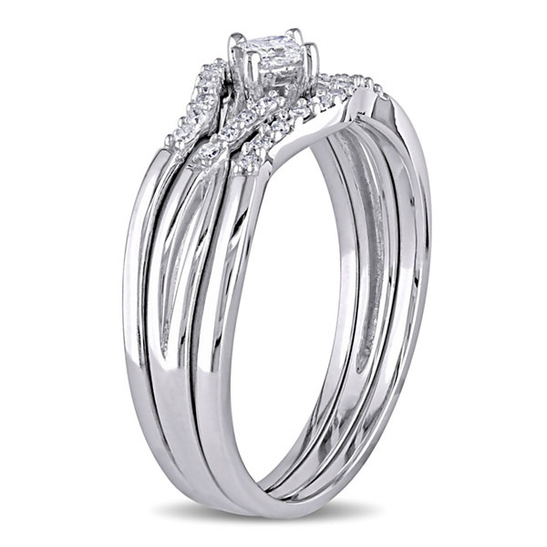 1/4 CT. T.W. White Diamond 10K Gold Bridal Set
