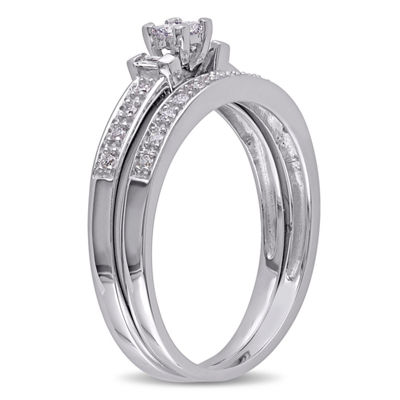 1/3 CT. T.W. White Diamond 10K Gold Bridal Set