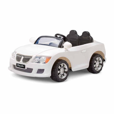 KidTrax Cool Car 12Volt Electric Ride-on in White