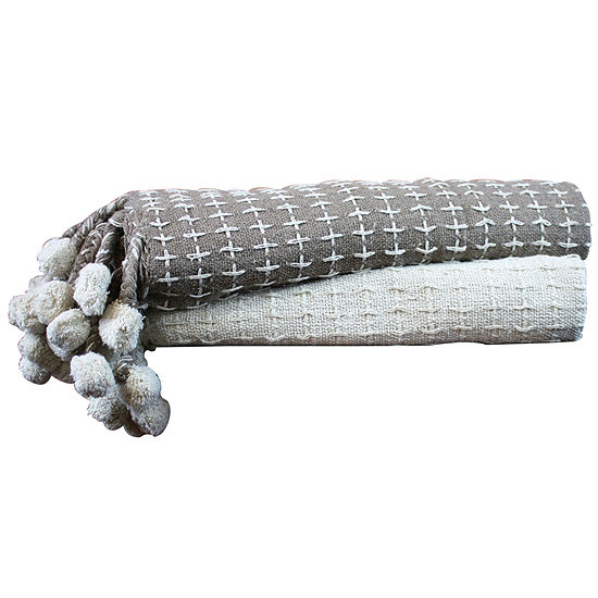 100% Cotton Cross Stitch 2 Pack Throws