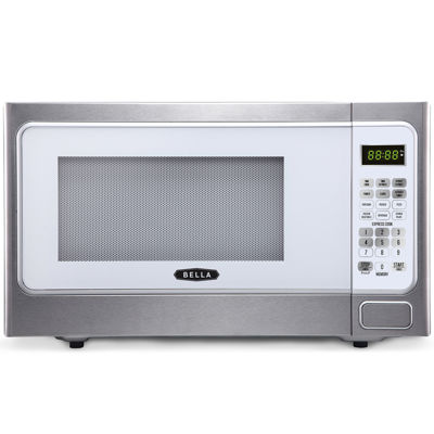 Bella 1000 Watt Stainless Steel And White Microwave Oven 1 Cubic Feet