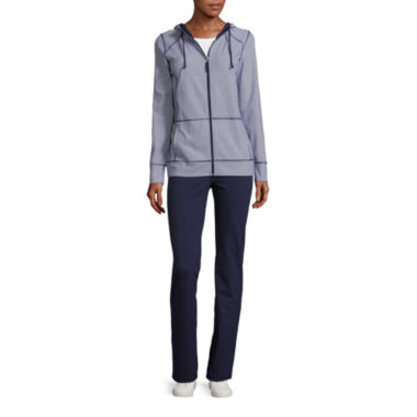 jcpenney.com | Made For Life Long Sleeve Knit Stripe & Dot Hoodie or  Knit Stripe & Dot Workout Pants