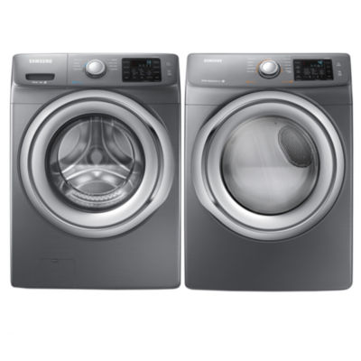 Samsung Front Load 2-pc. Electric Washer and Dryer Set