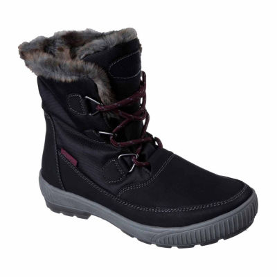 Skechers Dry Quest Womens Mid Lace Up Boots