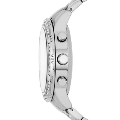 Relic By Fossil Eliza Womens Silver Tone Smart Watch-Zrt1000