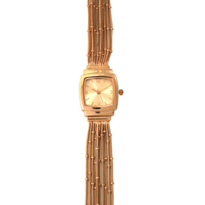 Olivia Pratt Womens Rose Goldtone Bracelet Watch-A916793rosegold
