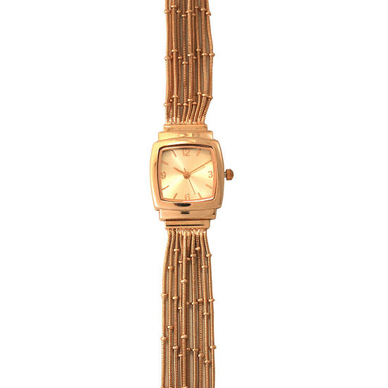 Olivia Pratt Womens Rose Goldtone Bracelet Watch-A916793rosegold