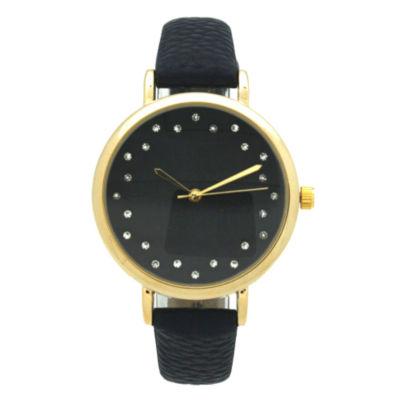 Olivia Pratt Womens Blue Strap Watch-A916284navy