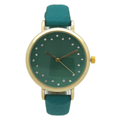Olivia Pratt Womens Blue Strap Watch-A916284teal
