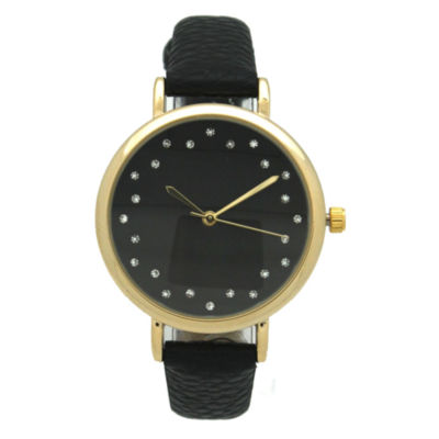 Olivia Pratt Womens Brown Strap Watch-A916284black