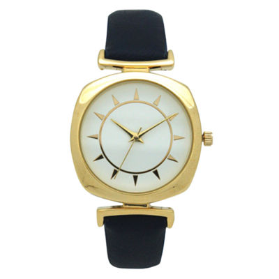 Olivia Pratt Womens Blue Strap Watch-A917384navy