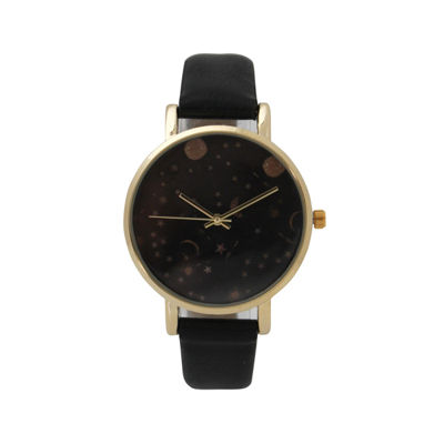 Olivia Pratt Womens Black Strap Watch-17347black